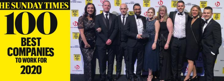 Curtins storm up the Sunday Times Top 100 Companies to work for…